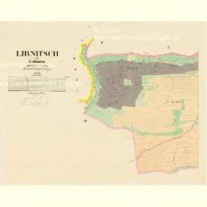 Libnitsch - c4028-1-001 - Kaiserpflichtexemplar der Landkarten des stabilen Katasters