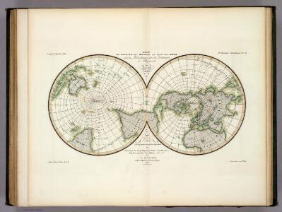 Karte Der Magnetischen Meridiane und Parallel-Kreise.