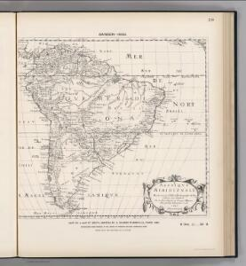 Facsimile:  Part of South America by Sanson.