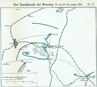 Der Durchbruch bei Brzeziny 21. bis 23. November 1914