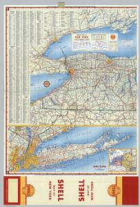 Shell Highway Map of New York (eastern portion).