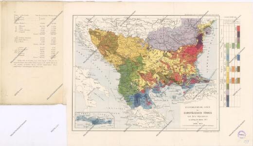 Ethnographische Karte von Europäischen Türkei...