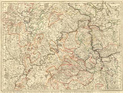 Parties des Archeveschés et Eslectorats de Mayence, de Treves, du Palatinat et Eslectorat du Rhein &