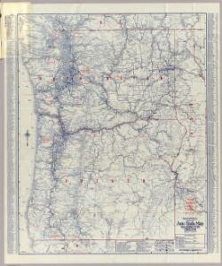 Rand McNally Official 1925 Auto Trails Map Washington Oregon.