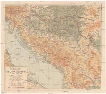 Pregledna karta kraljevstva Srba, Hrvata, Slovenaca (Jugoslavije)