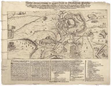 Wahre abconterfeyung der Haeupt Stadt in Oberlaußnitz Budissin