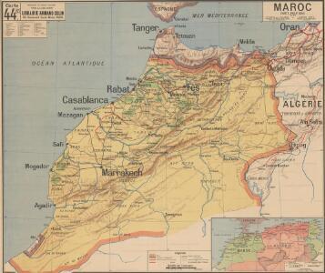 Maroc carte politique