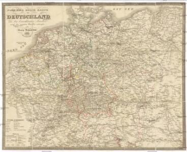 Post und Reise Karte von Deutschland und den benachbarten Ländern