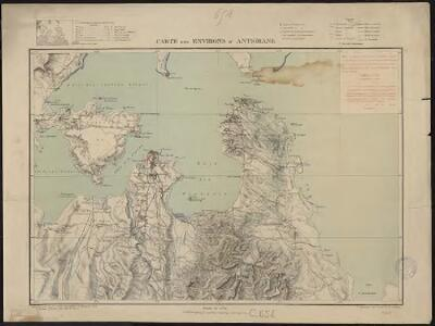 Carte des environs d'Antsirane