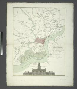 A plan of the city and environs of Philadelphia / engraved and published by Matthew Albert Lotter.