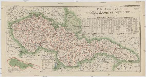 Politické rozdělení Československé republiky