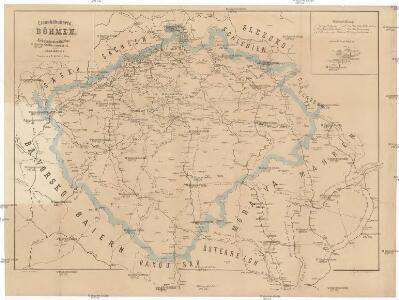 Eisenbahnkarte von Böhmen