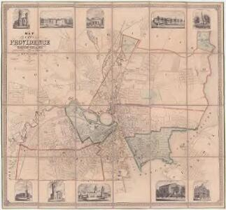 Map of the city of Providence, Rhode Island