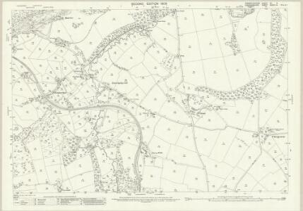 Pembrokeshire VII.2 (includes: Cilgerran; Llangoedmor; Maenordeifi) - 25 Inch Map