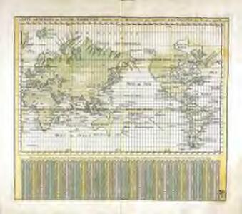 Carte generale du globe terrestre