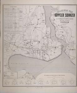 Belagerungs Plan der Düppeler Schanzen mit zu Grundelegung der Dänischen Generalstabskarte