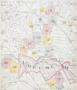 Map North West London.Insurance Plan Of London North West District Vol C Second Key Plan B