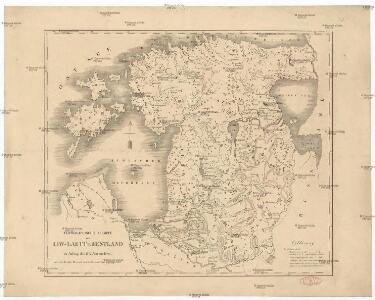 Topographische Charte von Liw-Laett u. Eestland zu Anfang des 13ten Jahrhunderts