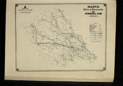 Harta Cailor de Comunicatie din Judetul Iasi