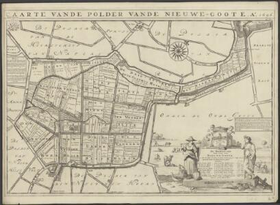 Caarte vande polder vande Nieuwe-Goote, Ao. 1696