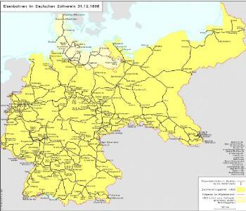 Eisenbahnen im Deutschen Zollverein 31.12.1866