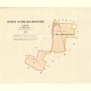 Ober Schwägersdorf - m0788-1-001 - Kaiserpflichtexemplar der Landkarten des stabilen Katasters