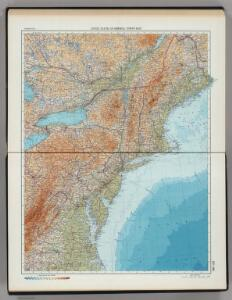 197-198.  United States of America, North East.  The World Atlas.