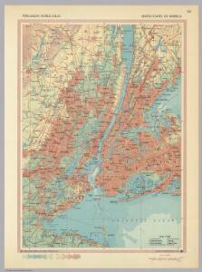 New York City Vicinity.  Pergamon World Atlas.