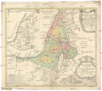 Palaestina in XII. tribvs divisa, cvm terris adiacentibvs