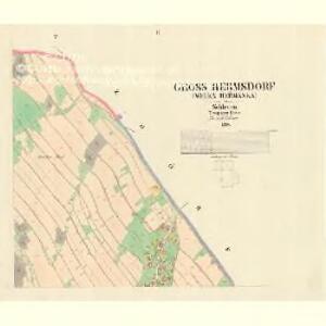 Gross Hermsdorf (Welka Heřmanka) - m0696-1-002 - Kaiserpflichtexemplar der Landkarten des stabilen Katasters
