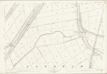 Norfolk LXVIII.16 (includes: Denver; Fordham; Hilgay; Nordelph; Welney) - 25 Inch Map