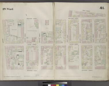 Plate 41: Map bounded by Houston Street, Allen Street, First Street, Essex Street, Rivington Street, Bowery.