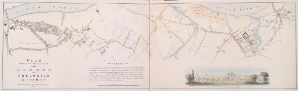 PLAN SHEWING THE PROPOSED LINE of the LONDON AND GREENWICH RAILWAY