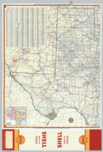 Shell Highway Map of Texas (western portion).