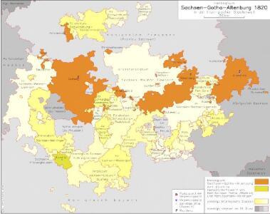 Herzogtum Sachsen-Gotha-Altenburg 1820 in der thüringischen Staatenwelt