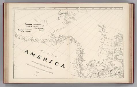 Facsimile:  Arrowsmith's America (portion).