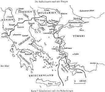 Griechenland nach den Balkankriegen