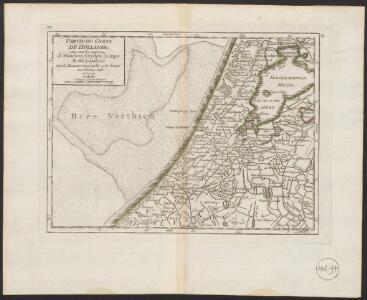 Partie du Comté de Hollande, où sont les environs de Haarlem, Leyden, la Haye, Delft, Gonda [!] &c.