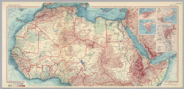 Africa - North.  Pergamon World Atlas.