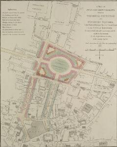 A Plan of PROPOSED IMPROVEMENTS between THE ROYAL EXCHANGE and FINSBURY SQUARE, In the Wards of Coleman Street & Broad Street In the CITY of LONDON