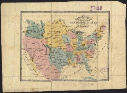 The United States : the relative position of the Oregon & Texas and California