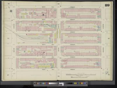 Manhattan, V. 5, Double Page Plate No. 89 [Map bounded by W. 32nd St., 8th Ave., W. 27th St., 10th Ave.]
