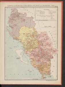Carte des écoles et églises du vilayet de Jannina (1908)