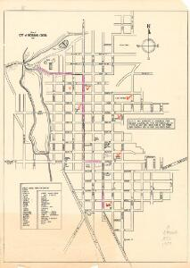 Map of city of Richland Center
