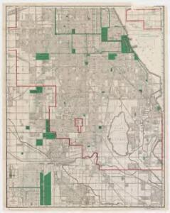 Rand McNally & Co.'s new street number guide map of Chicago : Southern sheet
