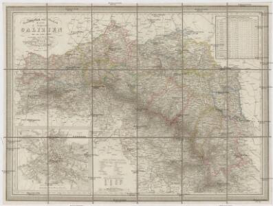 General- Post- und Strassen Karte des Königreich Galizien