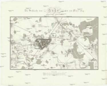 Die Schlacht von Laon den 9ten März 1814