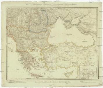 Politisch statistische Charte von der Europäischen Türkey und ganz Klein Asien