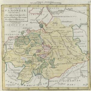Circvlvs Saxoniae Svperioris Quo ad partem meridionalem, exhibens Saxoniam Misniam et Thuringiam