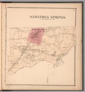 Saratoga Springs, Saratoga County, New York.